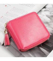 billetera mujeres- monedero pequeño cuadrado simple-rojo