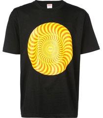 supreme spitfire classic swirl t-shirt - black