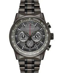 reloj chrono eco-drive nigth-hawk gris oscuro citizen