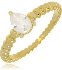 anel brenda gota cristal di capri semi jóias x ouro