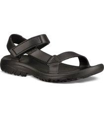 women's teva hurricane drift water friendly sandal, size 10 m - black