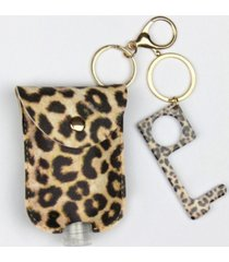 sanitizer pouch key chain, touchless key tool and no contact keychain set