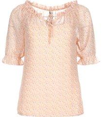 blouse met bloemenprint christina  roze