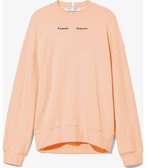 proenza schouler white label ps ny sweatshirt 00731 apricot/pink m