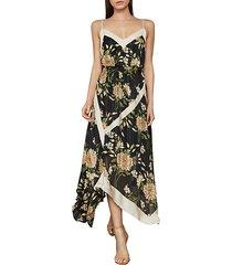floral midi handkerchief dress