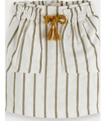 scotch & soda striped linen blend skirt