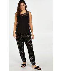 hunkemöller jersey pyjamasbyxor svart