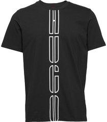 darlon203 t-shirts short-sleeved svart hugo