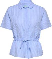 ivet blouse blouses short-sleeved blauw morris lady