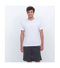camiseta esportiva básica com proteção uv | get over | branco | g
