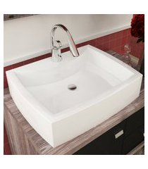 cuba de apoio para banheiro turim mármore bosi branca