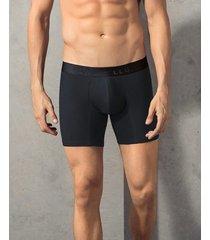 bóxer medio en confortable algodón - masculino interior negro leonisa