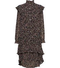 frille dress jurk knielengte bruin lollys laundry
