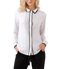 belldini black label button front long sleeve top