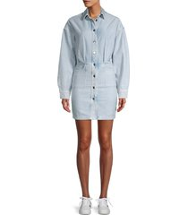 iro women's raffa denim shirtdress - blue - size 34 (2)