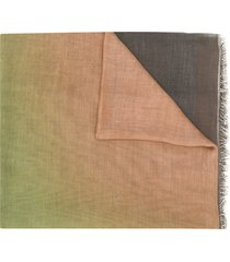 faliero sarti chal ruby shaded scarf - green