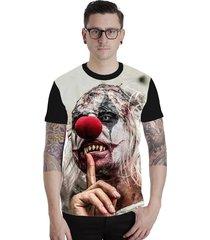 camiseta lucinoze camisetas manga curta evil clown preto