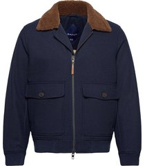 d2. wool flight jacket ulljacka jacka blå gant