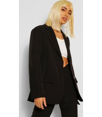 tailored oversized pocket blazer, black