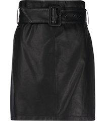 federica tosi high-waisted belted skirt - black