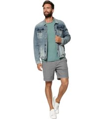 circle of trust idol denim jacket blue stone licht blauw