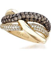 le vian chocolatier® diamond & 14k yellow gold wrap ring