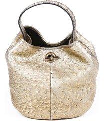 yves saint laurent rive gauche medium capri ostrich hobo bag
