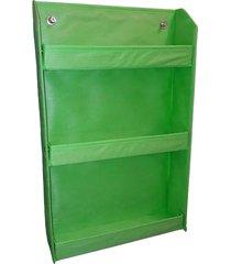 revisteiro organibox prateleira verde bandeira verde limáo - tricae