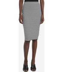 vince camuto women's striped pull on tube skirt
