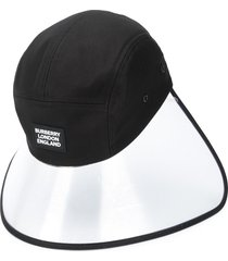 burberry transparent panel bonnet cap - black