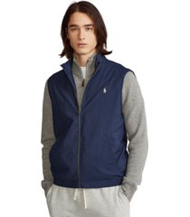 polo ralph lauren men's big & tall twill mockneck vest