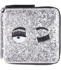 chiara ferragni flirting glitter wallet