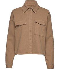 mathilde shirt overhemd met lange mouwen beige just female