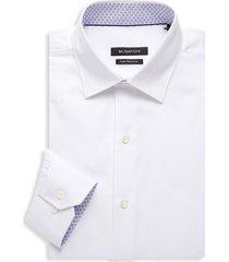bugatchi men's regular-fit contrast-cuff dress shirt - white - size 17