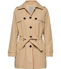 frhatrench 1 outerwear trenchcoat lange jas beige fransa