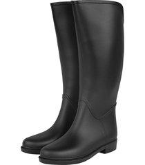 botas de lluvia impermeable horse style riding bottplie - negro