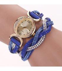 orologio da polso con cinturino in caucciù con cinturino in strass colorato di moda per uomo