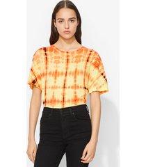proenza schouler tie dye t-shirt tangerine/white/blk/yellow m