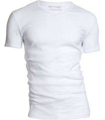 garage basis t-shirt v-hals semi bodyfit wit