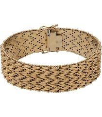 katheleys vintage 1950s 18kt gold geometric articulated bracelet