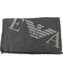 emporio armani scarf with maxi ea logo