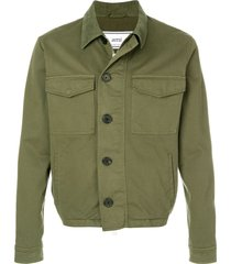 ami paris casual jacket - green