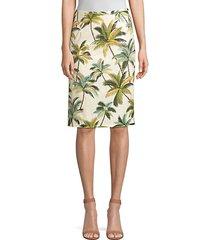 hawaiian shine pencil skirt
