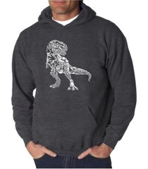 la pop art men's word art hoodie - dinosaur