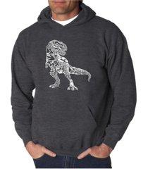 la pop art men's word art hoodie - dinosaur
