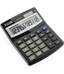 calculadora de mesa elgin mv-4124 preta com 12 dígitos