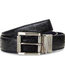 robert graham men's reversible leather belt - black navy - size 34