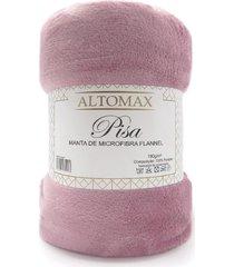 manta microfibra flannel queen pisa 2,20x2,40 - altomax - rosa - rosa - dafiti