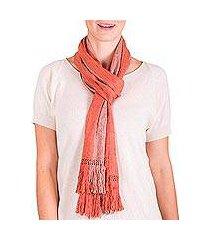 rayon scarf, coral bands' (guatemala)