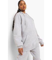zwangerschap oversized hoodie met zakken, grey marl